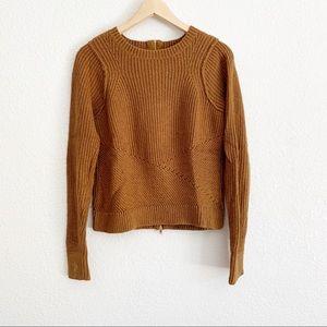 Rachel Roy Brown Crewneck Cotton Blend Sweater
